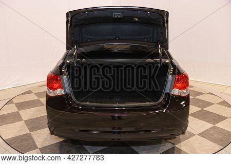 Novosibirsk, Russia - July 07, 2021:   Chevrolet Cruze, Big Trunk Open In A Suv Car.