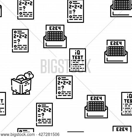 Self Study Lessons Vector Seamless Pattern Thin Line Illustration