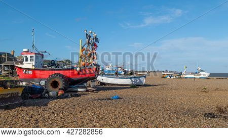 Fishing Boats On The Beach At Aldeburgh