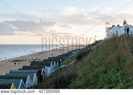 A View Of Southwold At Sunset On A Cold Autumn Evening