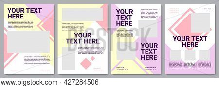 Childcare Brochure Template. Professional Instruction. Flyer, Booklet, Leaflet Print, Cover Design W