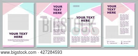 Corporate Statistic Brochure Template. Flyer, Booklet, Leaflet Print, Cover Design With Copy Space.