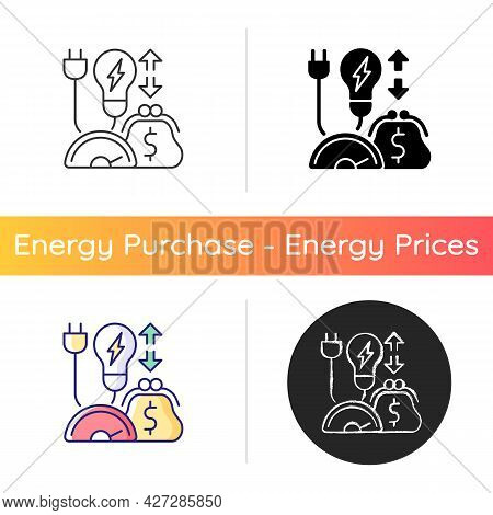 Energy Efficiency Program Icon. Policy For Purchasing Electrical Power. Resource Supply Consumption