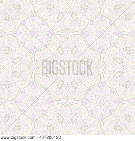 Arabic Traditional Geometric Vector Seamless Ornament. Batik Patchwork Design. Vintage Oriental Moti