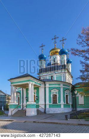 Vvedensky Cathedral In Optina Monastery In Russia