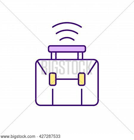 Virtual Workplace Rgb Color Icon. Remote Working. Isolated Vector Illustration. Flexible Workspace.