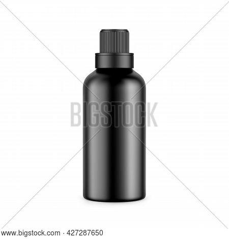 Black Matte Plastic Bottle For Conditioner, Shampoo, Detergent, Oil, Medicine, Cosmetic Bottle. Fron
