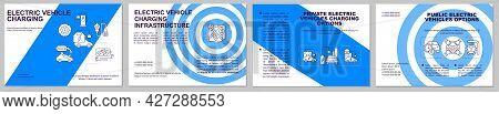 Public Ev Charging Options Brochure Template. Flyer, Booklet, Leaflet Print, Cover Design With Linea