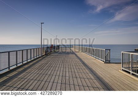 Pier - A Place For Walks And Recreation On The Sea Coast