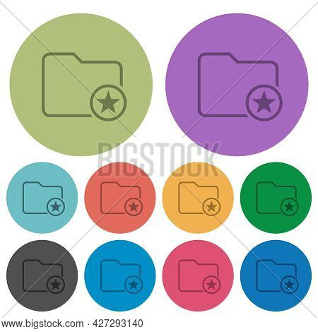Mark Directory Outline Darker Flat Icons On Color Round Background