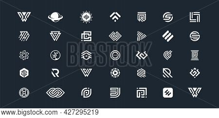 Modern Creative Abstract Logo Collection. Logo Can Be Used For Icon, Brand, Identity, Finance, Socia