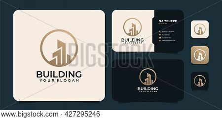 Modern Real Estate Building Logotype Vector Company Apartment Property. Logo Can Be Used For Icon, B