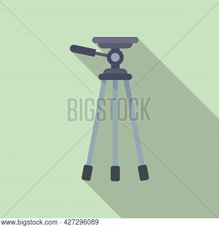 Mobile Tripod Icon Flat Vector. Camera Video Phone Stand. Photo Tripod