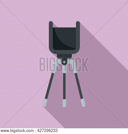 Phone Video Stand Icon Flat Vector. Mobile Tripod. Smartphone Camera Stand