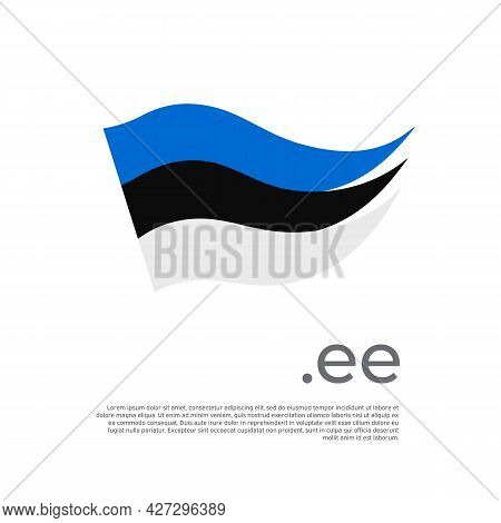 Estonia Flag. Stripes Colors Of The Estonian Flag On A White Background. Vector Design National Post