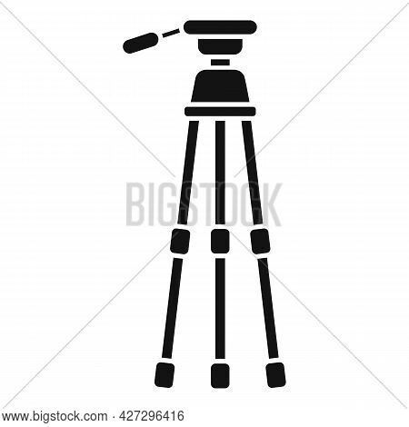 Photo Tripod Icon Simple Vector. Camera Mobile Stand. Studio Film Tripod
