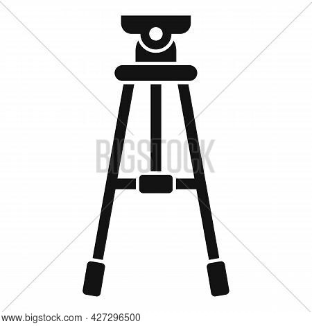 Studio Tripod Icon Simple Vector. Video Camera Stand. Digital Film Tripod