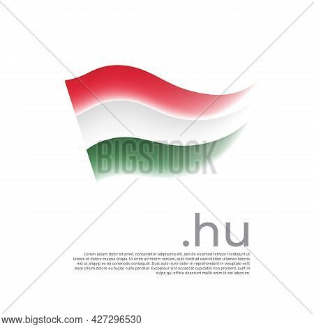 Hungary Flag. Stripes Colors Of The Hungarian Flag On A White Background. Vector Design National Pos