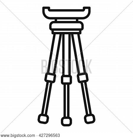 Phone Tripod Icon Outline Vector. Mobile Camera Stand. Video Or Photo Tripod