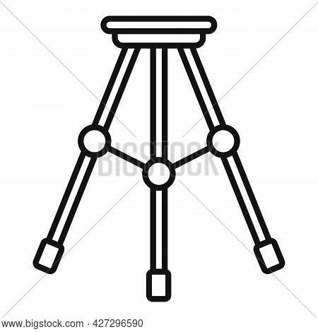 Steel Tripod Icon Outline Vector. Camera Stand. Video Phone Tripod