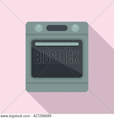 Electric Convection Oven Icon Flat Vector. Kitchen Stove. Gas Convection Oven