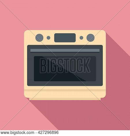Convection Grill Oven Icon Flat Vector. Electric Kitchen Stove. Gas Fan Oven