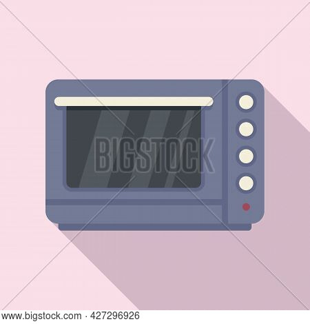 Fan Convection Oven Icon Flat Vector. Grill Kitchen Stove. Electric Or Gas Oven
