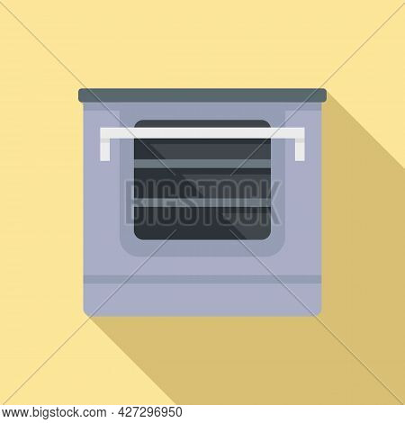Temperature Convection Oven Icon Flat Vector. Electric Kitchen Stove. Cooker Convection Oven