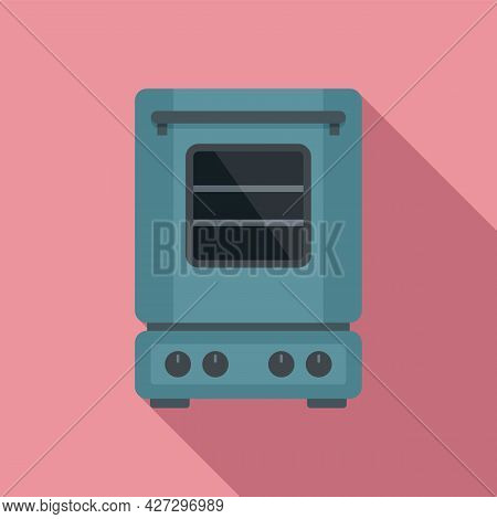 Inside Convection Oven Icon Flat Vector. Turbo Fan Oven. Kitchen Stove