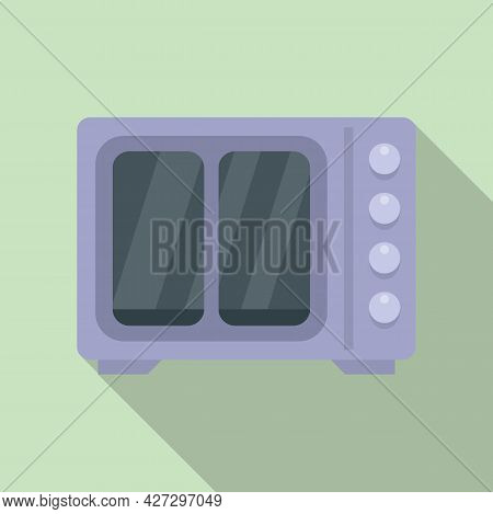 Heat Convection Oven Icon Flat Vector. Grill Gas Stove. Kitchen Convection Oven
