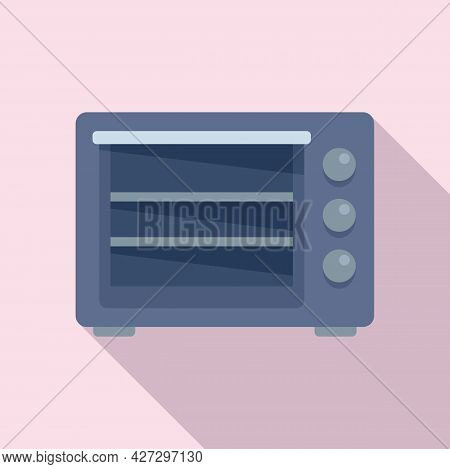 Turbo Convection Oven Icon Flat Vector. Electric Grill Stove. Gas Fan Oven