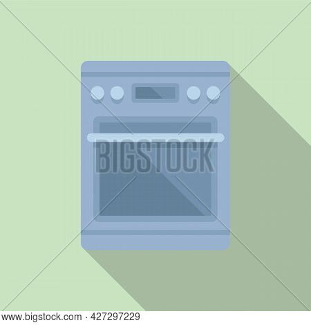Hot Oven Icon Flat Vector. Electric Convection Stove. Grill Oven