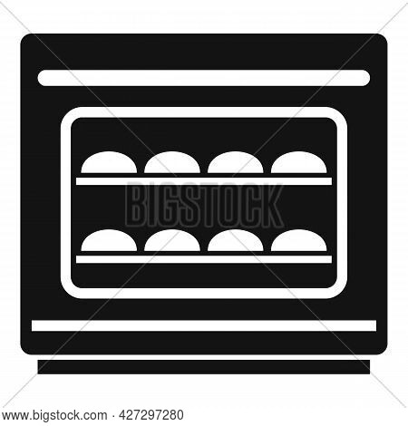 Baking Convection Oven Icon Simple Vector. Cooking Electric Stove. Gas Convection Oven