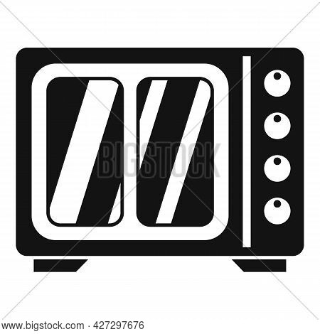 Heat Convection Oven Icon Simple Vector. Grill Gas Stove. Kitchen Convection Oven