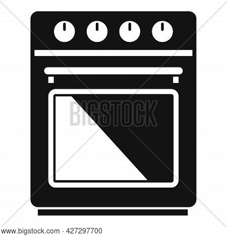 Front Convection Oven Icon Simple Vector. Electric Kitchen Stove. Grill Gas Oven