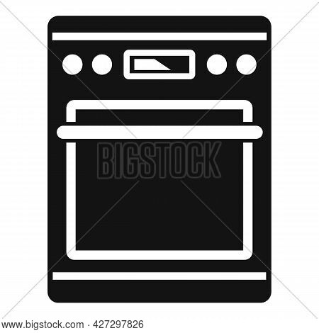 Hot Oven Icon Simple Vector. Electric Convection Stove. Grill Oven