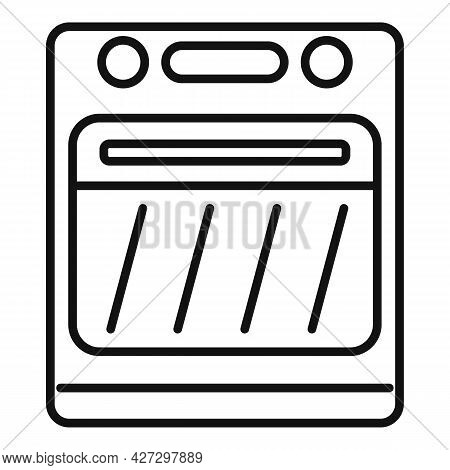 Electric Convection Oven Icon Outline Vector. Kitchen Stove. Gas Convection Oven