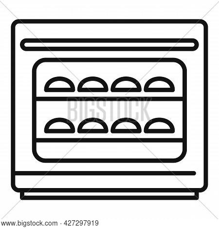 Baking Convection Oven Icon Outline Vector. Cooking Electric Stove. Gas Convection Oven