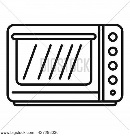 Fan Convection Oven Icon Outline Vector. Grill Kitchen Stove. Electric Or Gas Oven