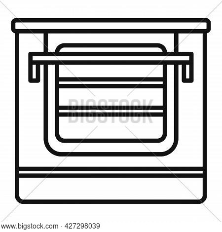 Temperature Convection Oven Icon Outline Vector. Electric Kitchen Stove. Cooker Convection Oven