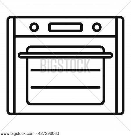 Cooking Convection Oven Icon Outline Vector. Gas Kitchen Stove. Cooker Oven
