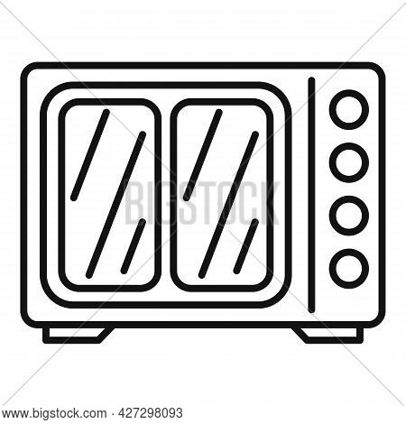 Heat Convection Oven Icon Outline Vector. Grill Gas Stove. Kitchen Convection Oven