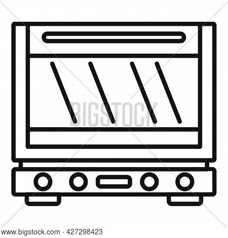 Defrost Oven Icon Outline Vector. Electric Convection Stove. Grill Gas Oven