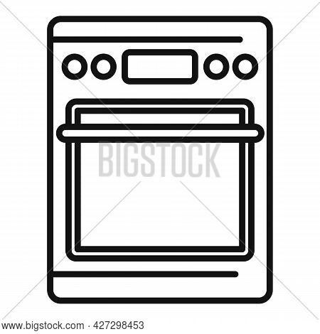 Hot Oven Icon Outline Vector. Electric Convection Stove. Grill Oven