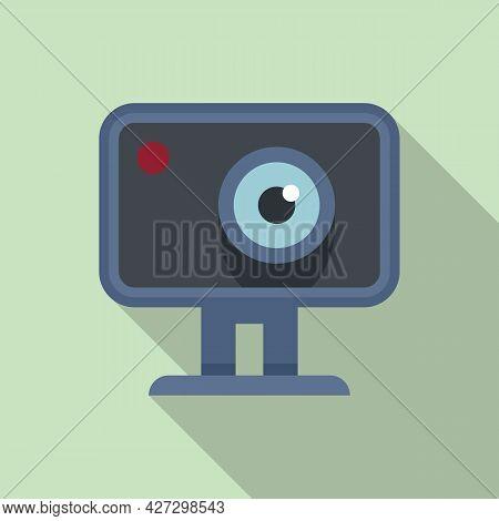 Action Camera Icon Flat Vector. Movie Camcorder. Digital Action Camera