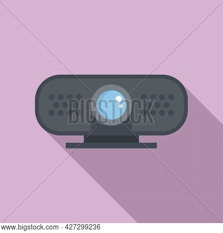 4k Web Camera Icon Flat Vector. Video, Photo Camcorder. Digital Picture