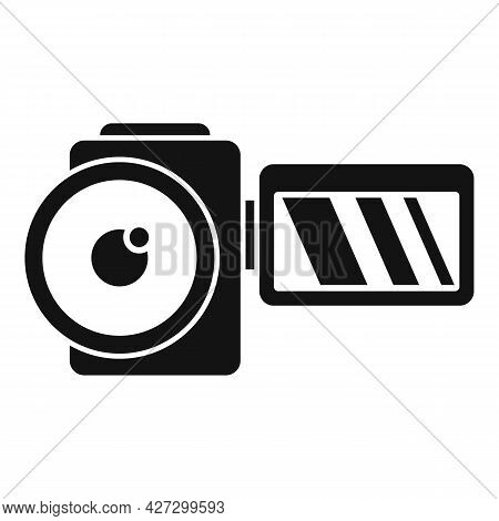 Home Camcorder Icon Simple Vector. Camera Movie. Tv Production
