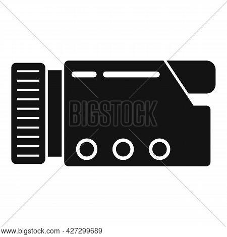 Compact Camcorder Icon Simple Vector. Video Camera. Digital Camcorder