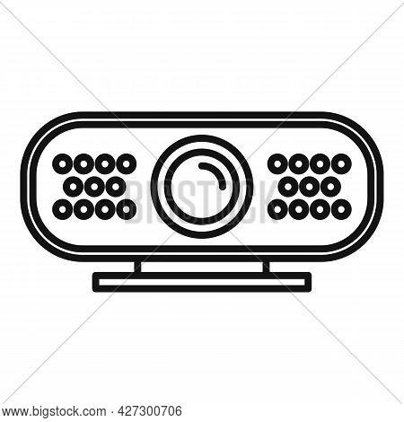 4k Web Camera Icon Outline Vector. Video, Photo Camcorder. Digital Picture