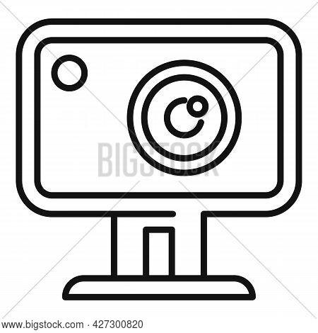 Action Camera Icon Outline Vector. Movie Camcorder. Digital Action Camera